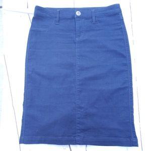 Style&co women  Pencil Skirt petties size 2P Blue